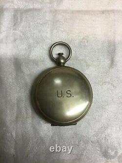 WWII 1941 U. S. Army Air Corp Longines Wittnauer Pilot Pocket Compass Original