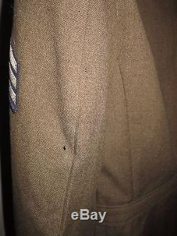 WWII 5th Air Force Pacific Theater Army Air Corps Sergeant Uniform Jacket 38L