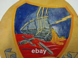 WWII Army Air Force Leather Hand Painted 404th Fighter Group Patch ORIGINAL