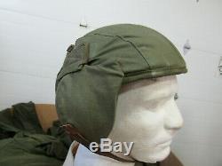 WWII Army Air Force M-4 Gunners Flack Helmet NOS 100% original Very Rare