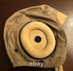 WWII Army Air Force Summer Flight Helmet AN-H-15 Unissued Excellent Condition