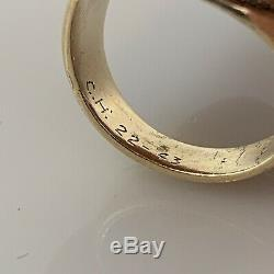 WWII Army Air Force Technical School 10k Gold Ring s 8.75 Spartan Rare 12g USAAF