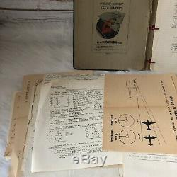 WWII Army Air Forces USAAF Collection 100+ Papers Documents Drawings Tests Notes