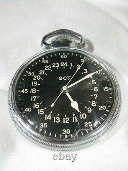 WWII Elgin GCT US Army Air Force Master Navigation AN5740 watch with canister