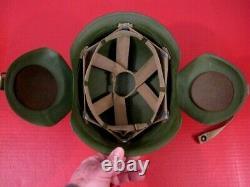 WWII Era USAAF Army Air Force M3 Flak Helmet Complete withSuspension XLNT