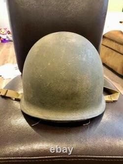 WWII IDd Fixed Bale Helmet of MIA presumed deceased Army Air Forces P-47 Pilot