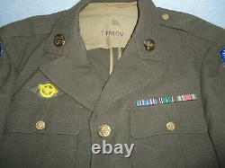 WWII JACKET 10th US Army Air Force CBI China Burma India PATCHED Sarg. UNIFORM