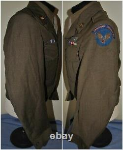 WWII Jacket Army Air Crew Wings, Training Command Tab with Bullion USAAF Patch