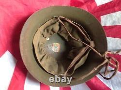 WWII Japanese Army Air Arsenal Mitsubishi Helmet Pre-1944 Original & Rare