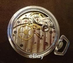 WWII Longines GCT 24 Hours US Army Air Corps Navigator Pocket Watch. Type A-9