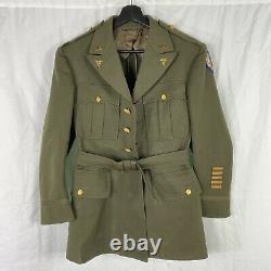 WWII Medical Officers Dress Uniform With Felt 9th Army Air Corp Patch
