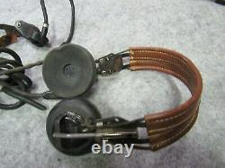 WWII Named HS-33 Head Set throat mike push to talk Army Air Corps (NM3)