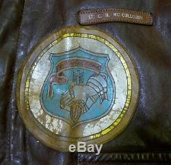 WWII Original, Exc Preserved, US Army Air Corps Named A-2 Flight Leather Jacket