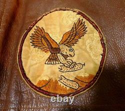 WWII Original US Army Air Corps Named A-2 Flight Jacket, 22nd Bomb Sq