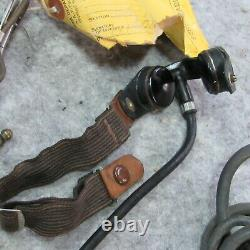 WWII R-14 Head Set throat mike push to talk Army Air Corps Signal Corps (R14)