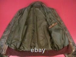 WWII USAAF Army Air Force Type A-2 Leather Flight Jacket Dated 1942 Original