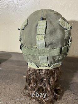 WWII USAAF Army Air Force Type A-9 Summer Cloth Flying Helmet WITH ORIG GOGGLES