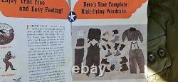 WWII USAAF Army Air Force Type F-3 Electric Flying Suit Jacket & Pants Set NOS