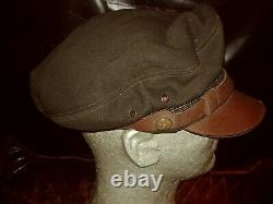 WWII USAAF Pilot Officer 50 Mission crusher cap hat B-17 B-24 ARMY AIR CORPS