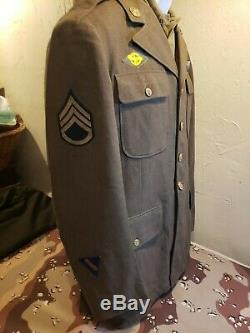 WWII US 8th Army Air Force Blue Back Wing Uniform with Research