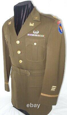 WWII US 9th Army Air Force AIRBORNE AVIATION ENGINEER Uniform Glider Wings ID'd
