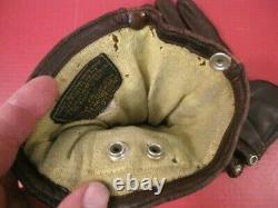 WWII US AAF Army Air Force F2 or F3 Electrically Heated Leather Flying Gloves #1