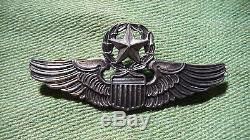 WWII US ARMY AIR CORPS Command Pilot 3 inch Sterling Silver WINGS PIN by Meyer