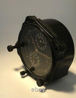WWII US ARMY AIR CORPS JAEGER 8 Day Manual COCKPIT CLOCK AIRCRAFT CHRONOGRAPH