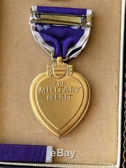 WWII US ARMY AIR CORPS group. PURPLE HEART, AIR MEDAL