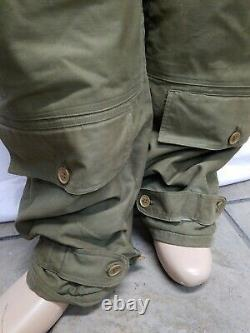 WWII US ARMY AIR FORCE WINTER FLYING TROUSERS TYPE A-10 3179 SZ 40 With BELT