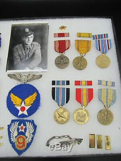 WWII US Army 9th Air Force Medal Grouping