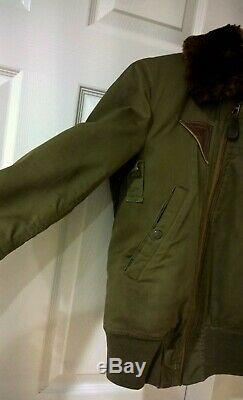 WWII US Army Air Corp B-15A Flight Jacket Size 34 Berk-Ray Corporation