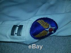WWII US Army Air Corp Officer's White Dress Jacket Capt size 37