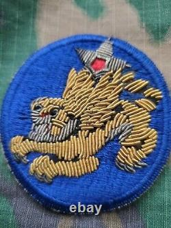 WWII US Army Air Corps 14th Air Force Flying Tigers Gemsco Bullion Oversew Patch