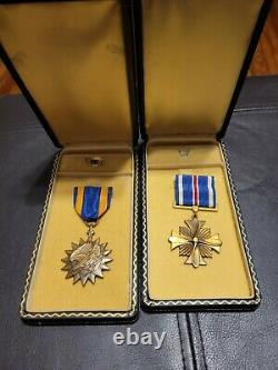 WWII US Army Air Corps Air Medal And Distinguished Flying Cross Named Set