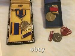 WWII US Army Air Corps Air Medal Named KIA Group TSGT B-24 Too Tired