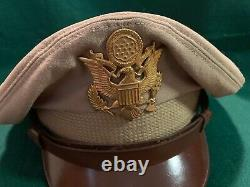 WWII US Army Air Corps Khaki Wool CAP, Brand Flight Ace