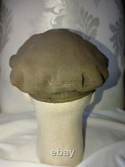 WWII US Army Air Corps USAAF Pilot Officers Crusher Cap 50 mission B-17 IDed WW2