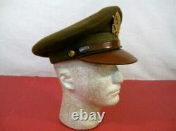 WWII US Army Air Force AAF Officer's Crusher Cap or Hat Size 7 Original #3