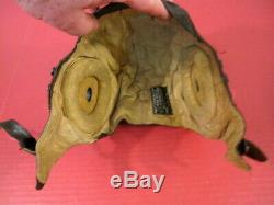 WWII US Army Air Force AAF Type A-11 Leather Pilot Flying Helmet Large 1944 1