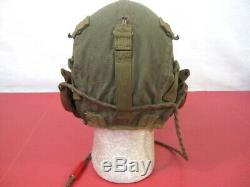 WWII US Army Air Force AAF Type A-9 Flying Helmet Wired Sz X-Large XLNT