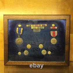WWII US Army Air Force Bombardment Unit Air Medal Set