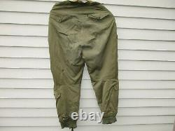 WWII US Army Air Force Flight Trousers Type A11 Large Size 34