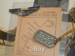 WWII US Army Air Force MAJOR GENERAL McMullen DOG TAGS Wings Papers Lot AAF Gen