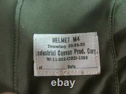 WWII US Army Air Force M-4 Flack Helmet Pilot / Crew NOS 100% original Very Rare