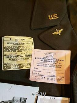 WWII US Army Air Force Officers Ike Jacket Grouping