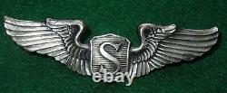 WWII US Army Air Force STERLING AMCRAFT 3 Full Sized Service Pilot Wings AAF