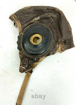 WWII US Army Air Force Type A-11 Leather Flight Helmet