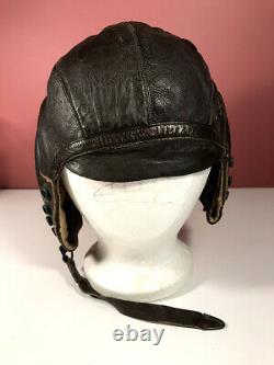 WWII US Army Air Force Type A-11 Leather Flight Helmet Free Shipping
