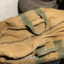 WWII US Army Air Forces Heavy Canvas Aviators Kit Bag AN6505-1 Named Pilot
